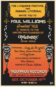 Crawdaddy Litquake Poster